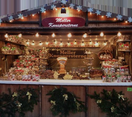 Melle Weihnachtsmarkt.Meller Knuspersterne